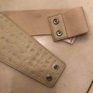 Accessories - Bedazzled beige belt